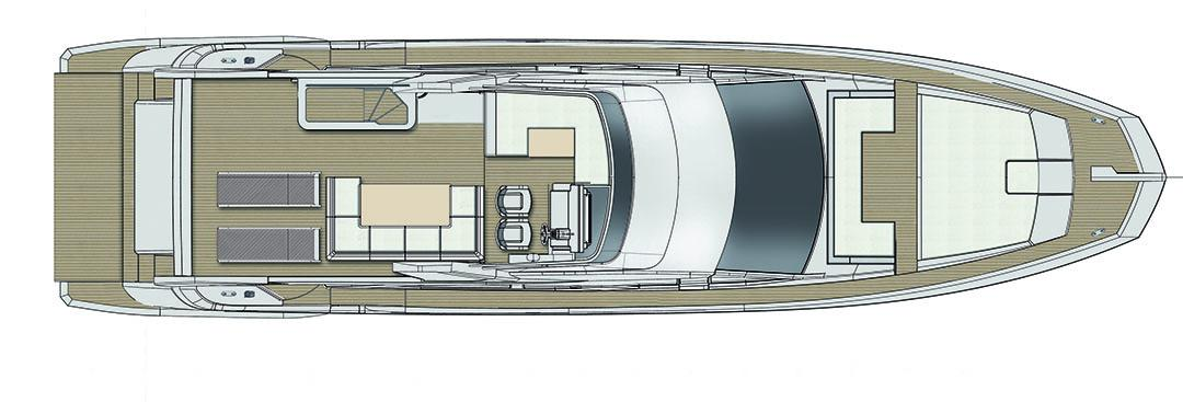 azimut 66 flybridge_layout
