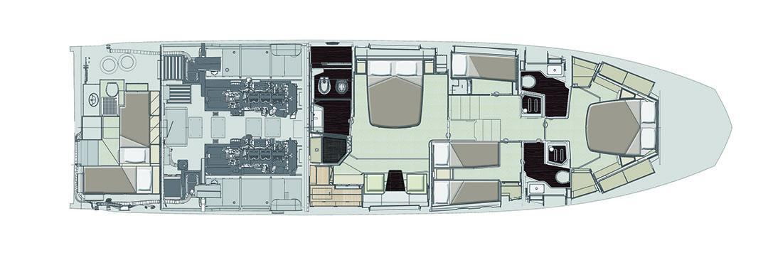 azimut 66 lowerdeck_layout