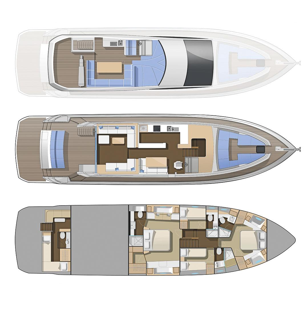 numarine 70 flybridge layout